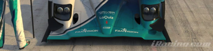 Acura with Loquiz logo, for the Virtual Le Mans