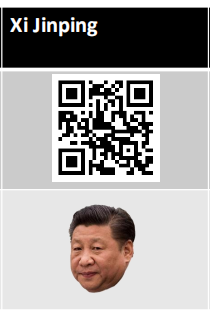 Xi Jinping with QR Code to launch the remote team-building game
