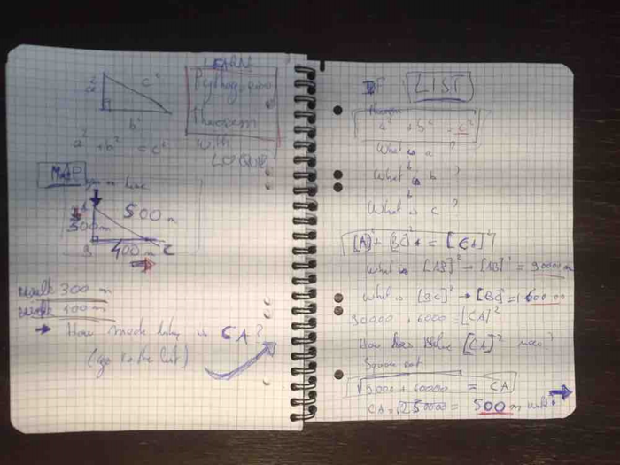 My notebook, where I conceive that  distance learning scavenger hunt