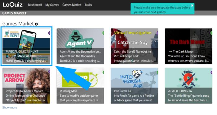 The Loquiz Games Market