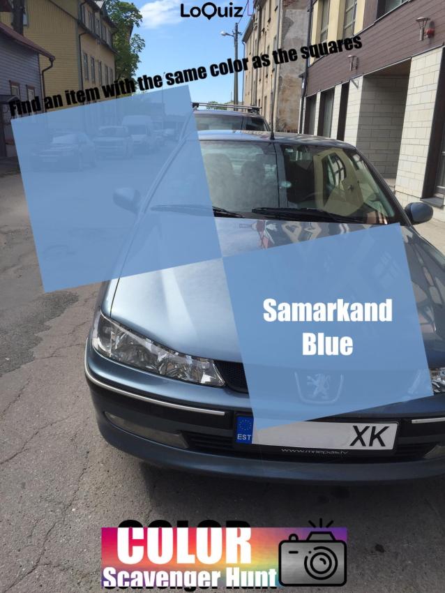 My car is blue Samarkand