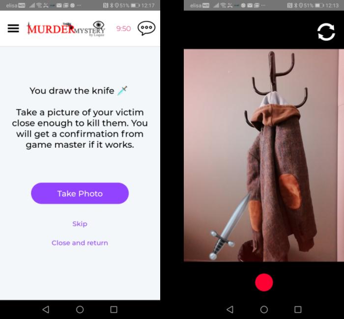 Murder Mystery using augmented photo